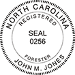 Need a professional forester stamp in North Carolina? Create your own custom forester stamp on the EZ Custom Stamps Store today!