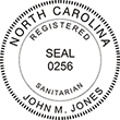 Looking for a registered sanitarian stamp for the state of North Carolina? Purchase your occupation stamp at the EZ Custom Stamps store today.