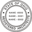 Looking for registered architect professional stamps for the state of Ohio? Buy your custom three-name architect professional stamp here at the EZ Custom Stamps store.