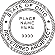 Looking for registered architect professional seal stamps for the state of Ohio? Shop for your custom two-name architect professional stamp here at the EZ Custom Stamps store.