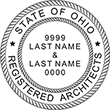 Need (2 names) Registered Architects Professional Stamps for the State of Ohio? Shop Custom Official Ohio 2 Registered Architects Professional Stamps here at EZ Custom Stamp Shop