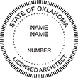 Looking for official licensed architect professional seal stamps for the state of Oklahoma? Shop for your custom architect professional stamp here at the EZ Custom Stamps store.