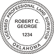Looking for land surveyor stamps? Shop our Oklahoma licensed professional land surveyor stamp at the EZ Custom Stamps Store. Available in several mount options.