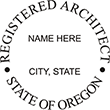 Looking for registered architect professional seal stamps for the state of Oregon? Shop for your custom architect professional stamp here at the EZ Custom Stamps store.