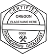 Looking for professional engineer stamps? Our Oregon professional engineering geologist stamps are available in several mount options, check them out at the EZ Custom Stamps Store.