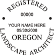 Need a landscape architect stamp? Purchase an Oregon registered landscape architect stamp at the EZ Custom Stamps Store.