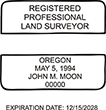 Looking for land surveyor stamps? Shop our Oregon registered professional land surveyor stamp at the EZ Custom Stamps Store. Available in several mount options.