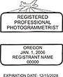 Looking for a professional photogrammetrist stamp for the state of Oregon? Find your occupation stamp at the EZ Custom Stamps store.
