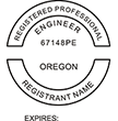 Looking for professional engineer stamps? Our Oregon professional engineer stamps are available in several mount options, check them out at the EZ Custom Stamps Store.