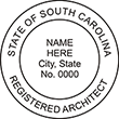 Looking for registered architect professional seal stamps for the state of South Carolina? Shop for your custom architect professional stamp here at the EZ Custom Stamps store.