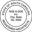 Need a registered architect professional stamp for the state of South Carolina? Shop this official South Carolina Registered Architects Professional Stamp at the EZ Custom Stamps store.