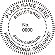 Need a professional geologist stamp in South Carolina? Create your own custom geologist stamp on the EZ Custom Stamps Store today!