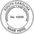 Looking for land surveyor stamps? Shop our South Carolina professional land surveyor stamp at the EZ Custom Stamps Store. Available in several mount options.