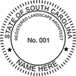 Need a landscape architect stamp? Check out our South Carolina registered landscape architect stamps at the EZ Custom Stamps Store.