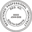 Looking for registered architect professional seal stamps for the state of South Dakota? Shop for your custom architect professional stamp here at the EZ Custom Stamps store.