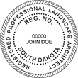Shopping for a landscape architect stamp? Buy this South Dakota registered landscape architect stamp at the EZ Custom Stamps Store.