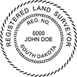 Looking for land surveyor stamps? Shop our South Dakota registered land surveyor stamp at the EZ Custom Stamps Store. Available in several mount options.