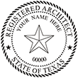 Need a registered architect professional stamp for the state of Texas? Shop this official Registered Architects Professional Stamp at the EZ Custom Stamps store.
