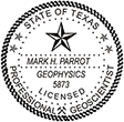 Need a professional geoscientist stamp in Texas? Create your own custom geoscientist stamp on the EZ Custom Stamps Store today!