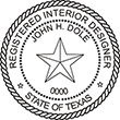 Looking for Interior designer stamps? Check out our Texas registered interior designer stamp at the EZ Custom Stamps Store.