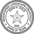 Shopping for a landscape architect stamp? Buy a Texas registered landscape architect stamp at the EZ Custom Stamps Store.