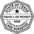 Looking for land surveyor stamps? Shop our Texas registered professional land surveyor stamp at the EZ Custom Stamps Store. Available in several mount options.