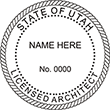 Need a licensed architect professional stamp for the state of Utah? Shop this official Licensed Architects Professional Stamp at the EZ Custom Stamps store.