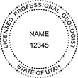 Need a professional geologist stamp in Utah? Create your own custom geologist stamp on the EZ Custom Stamps Store today!