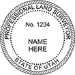 Looking for land surveyor stamps? Shop our Utah professional land surveyor stamp at the EZ Custom Stamps Store. Available in several mount options.