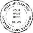 Looking for land surveyor stamps? Shop for a Vermont licensed land surveyor stamp at the EZ Custom Stamps Store. Available in several mount options.