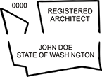 Need a registered architect professional stamp for the state of Washington? Shop this official Registered Architects Professional Stamp at the EZ Custom Stamps store.