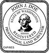 Looking for land surveyor stamps? Shop for a Washington registered professional land surveyor stamp at the EZ Custom Stamps Store. Available in several mount options.