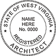 Need a registered architect professional stamp for the state of West Virginia? Shop this official Registered Architects Professional Stamp at the EZ Custom Stamps store.