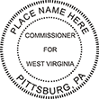 Need a West Virginia Commissioner notary stamp? Get a customizable public notary stamp for your state at the EZ Custom Stamps store.