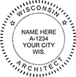 Need an architect professional stamp for the state of Wisconsin? Shop this official Architects Professional Stamp at the EZ Custom Stamps store.