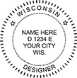 Looking for Wisconsin occupation stamps? Shop for Wisconsin designer occupation stamp at the EZ Custom Stamps Store.
