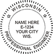 Looking for professional engineer stamps? Our Wisconsin professional engineer stamps are available in several mount options, check them out at the EZ Custom Stamps Store.