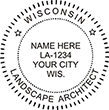 Need a landscape architect stamp? Check out a Wisconsin registered landscape architect stamp at the EZ Custom Stamps Store.