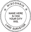 Looking for land surveyor stamps? Shop for a Wisconsin licensed land surveyor stamp at the EZ Custom Stamps Store. Available in several mount options.
