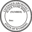 Need a licensed architect professional stamp for the state of Wyoming? Shop this official Licensed Architects Professional Stamp at the EZ Custom Stamps store.