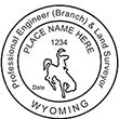 Looking for professional engineer stamps? Our Wyoming professional engineer and land surveyor stamps are available in several mount options, check them out at the EZ Custom Stamps Store.