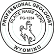 Need a professional geologist stamp in Wyoming? Create your own custom geologist stamp on the EZ Custom Stamps Store today!