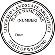 Looking for a landscape architect stamp for the state of Wyoming? Purchase these custom stamps at the EZ Custom Stamps Store.