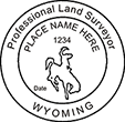 Looking for land surveyor stamps? Shop for a Wyoming professional land surveyor stamp at the EZ Custom Stamps Store. Available in several mount options.
