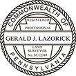 Looking for land surveyor stamps? Shop our Pennsylvania registered professional land surveyor stamp at the EZ Custom Stamps Store. Available in several mount options.