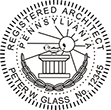 Looking for registered architect professional seal stamps for the state of Pennsylvania? Shop for your custom architect professional stamp here at the EZ Custom Stamps store.