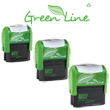 Cosco 2000 Plus turned green! The Green Line Classic includes select eco-friendly self-inking custom stamps and daters that are the environmentally responsible choice.