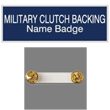 Shop the EZ Custom Stamps store for engraved plate name badges with military clip backing. Design your own or choose from a variety of color combinations.