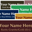 Looking for laser-engraved name badges, nameplates, signs, or banners for the office? Design your own products with or without your company logo or artwork here.