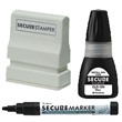 Want to keep your company information secure and your identity safe? Try out our special black ink that secures your personal information. Find it on the EZ Custom Stamps Store.